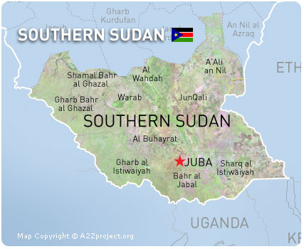 Southern Sudan Map